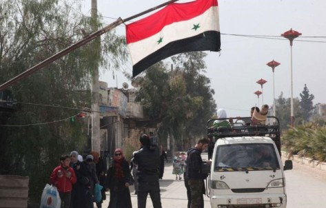 Raqqa's Residents in Syria Rebel against ISIS Terrorists, Flown Syria's Flags